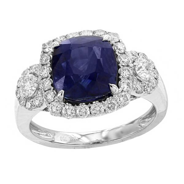 View 18Kw or 18ky/18kr Gold Sapphire Ring