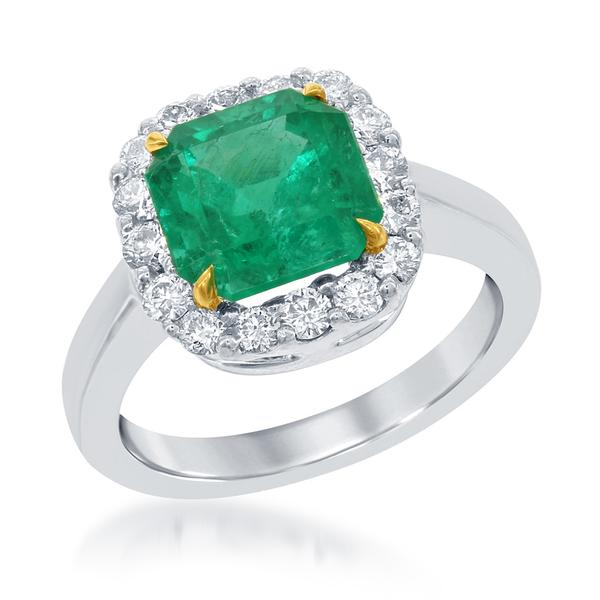 View Platinum or 18Ky Gold Emerald Ring